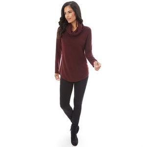 Apt 9 Textured Cowl Neck Sweater NWT L